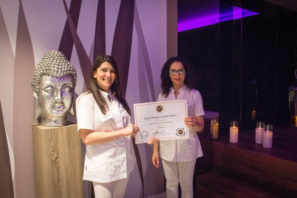World Massage Council calmamente premiazione